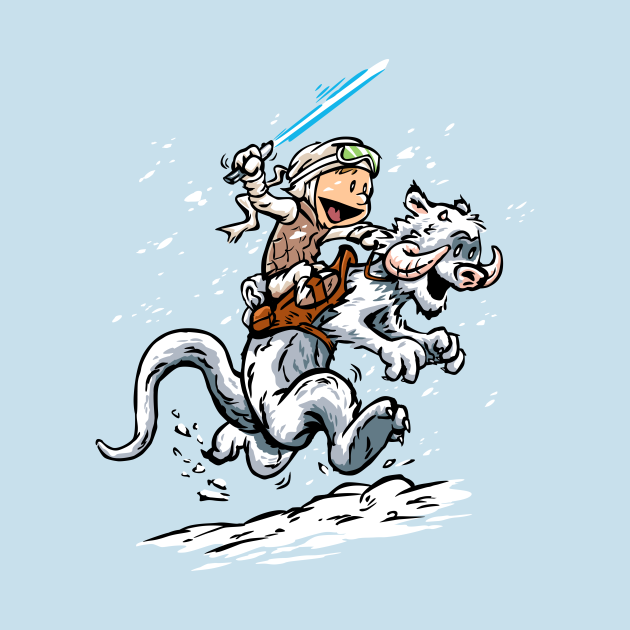 Calvin and Hoth Star Wars Tees