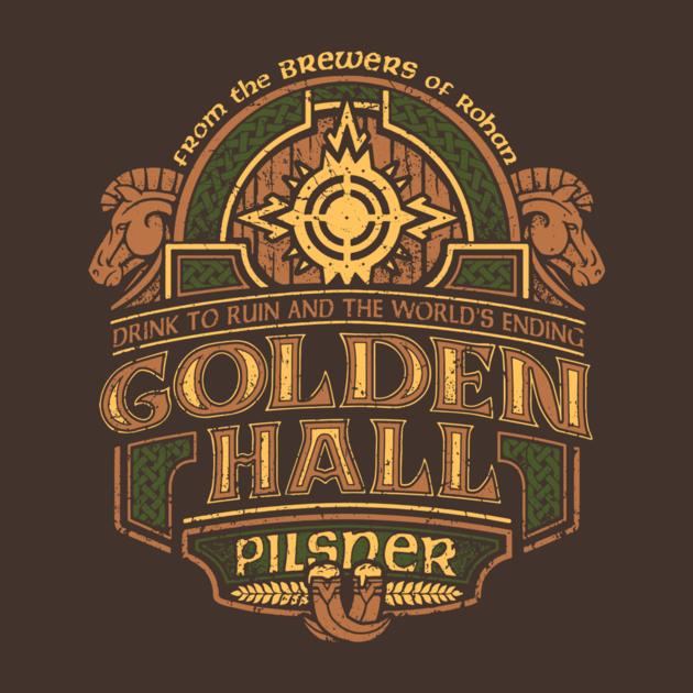 Golden Hall Pilsner Middle Earth Shirts
