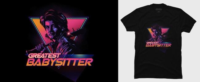 Greatest Babysitter - Stranger Things T-Shirts