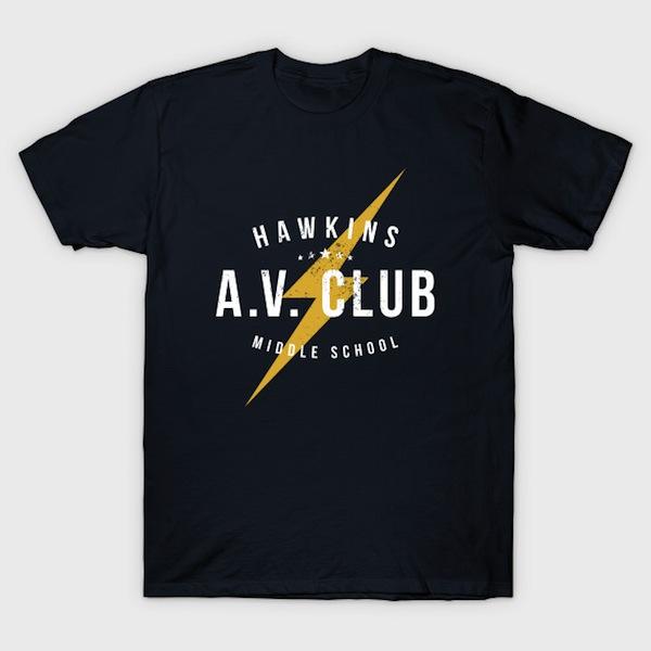 Hawkins A.V. Club (aged look) Tee