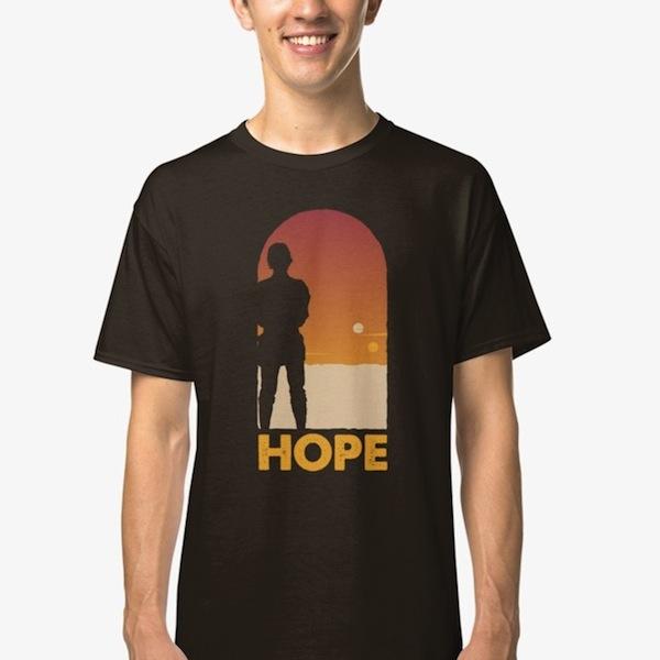 Hope - Best Luke Skywalker T-Shirts