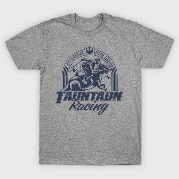 Hoth Tauntaun Racing Distressed Star Wars Design T-Shirt