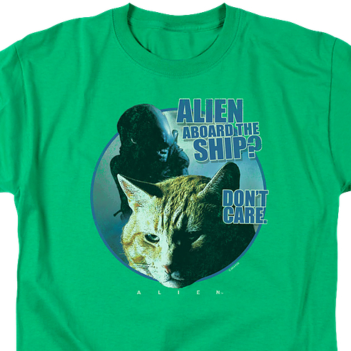 Jones Don't Care Alien Shirt