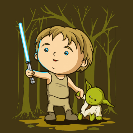 Little Hero - Cute Kids Star Wars T-Shirts