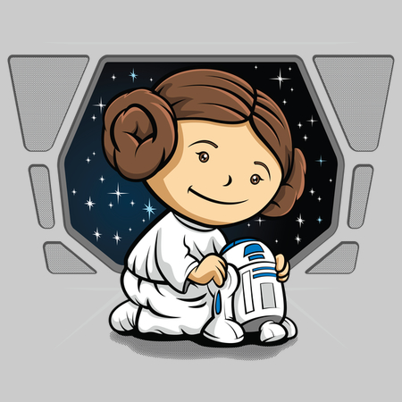 Little Princess - kids star wars t-shirts