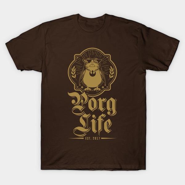 Porg Life Golden V2 T-Shirt