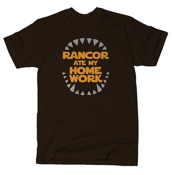 Rancor Ate My Homework Funny T-Shirt