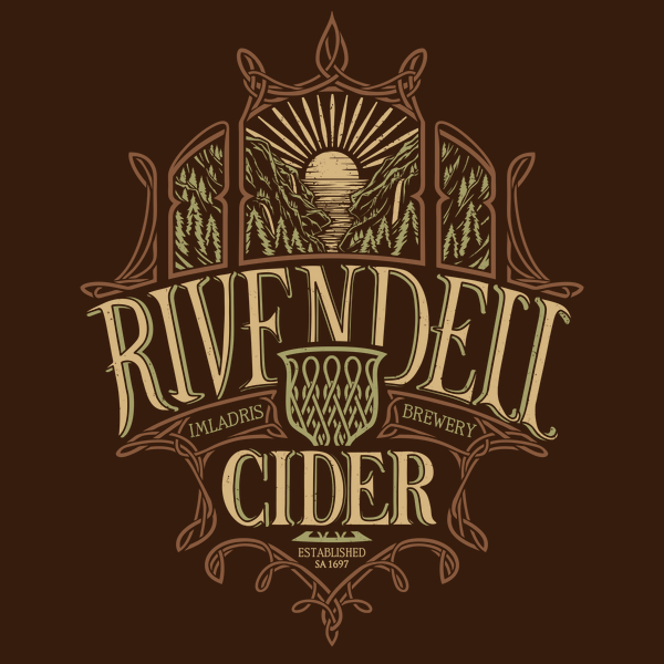 Rivendell Cider Middle Earth Brews T-Shirts