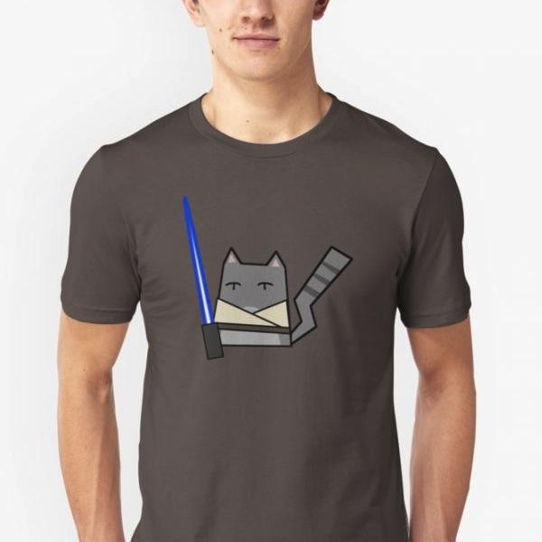 Skywalker Cat Slim Fit T-Shirt