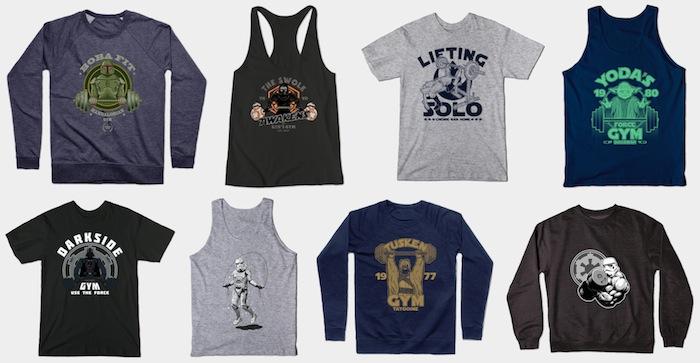 Star Wars Activewear - Tees, Tanks and Sweatshirts