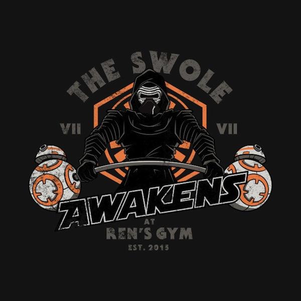 The Swole Awakens Star Wars Tee