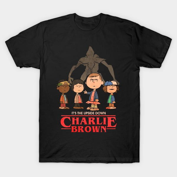 It's the upside down, Charlie Brown - Stranger Things T-Shirts