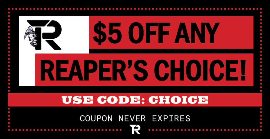Apparel Coupons plus Sales - $5 Off Reaper's Choice RIPT Apparel