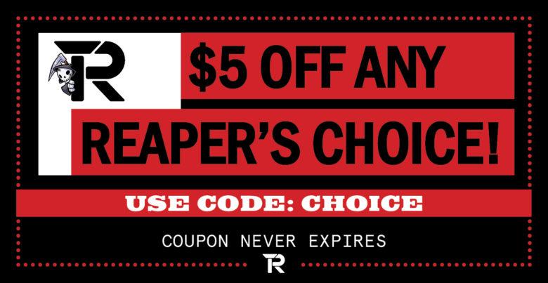 $5 Off Reaper's Choice RIPT Apparel