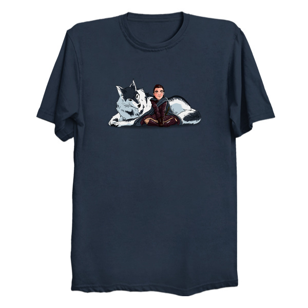 Arya and Nymeria - Game of Thrones T-Shirts
