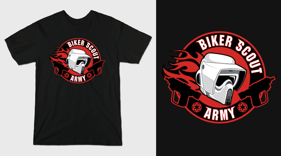 BIKER SCOUT ARMY - Black Star Wars T-Shirts