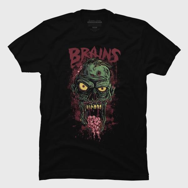 Brains Zombie T-Shirts