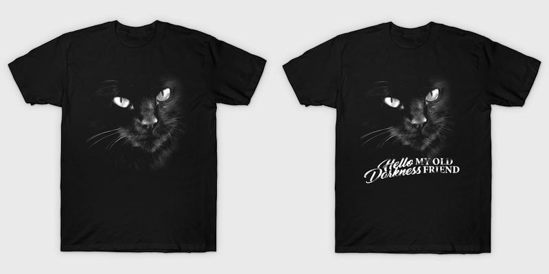 Cat Hello Darkness My Old Friend T-Shirts