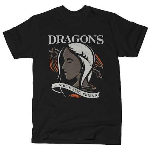 Dragons Are A Girl's Best Friend Tee