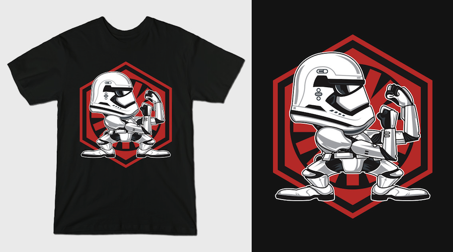 FIGHTING STORMTROOPER EP7 - Black Star Wars T-Shirts