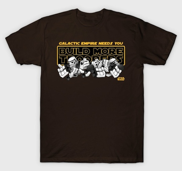 Galactic Empire Needs You! Lego T-Shirt