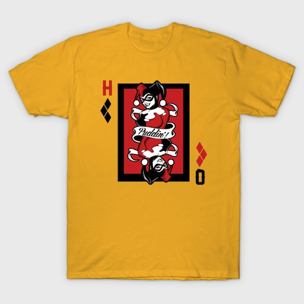 Harley Quinn Puddin card T-Shirt