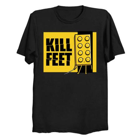 Kill Feet Lego parody tee