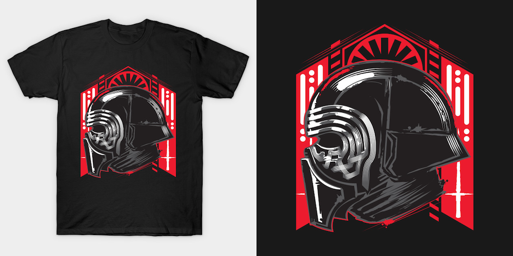 Let the past die - Black Star Wars T-Shirts