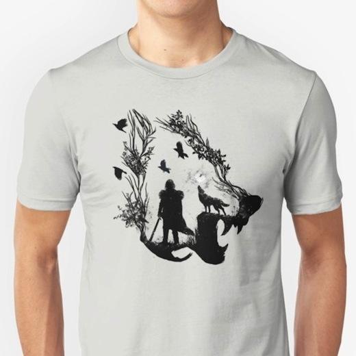 Lone Wolf - Jon Snow T-Shirts