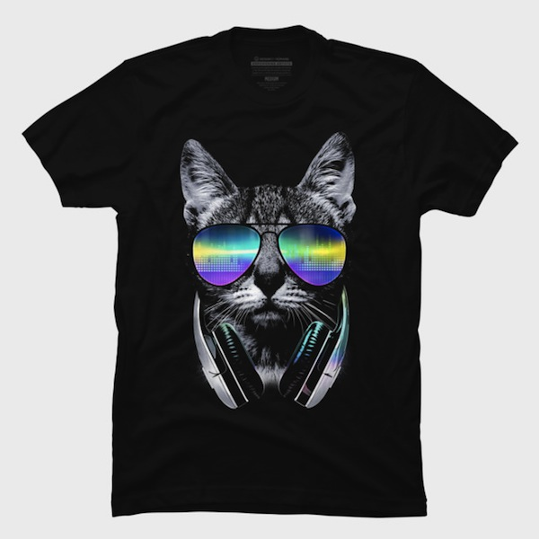 Music Lover Cat Tees