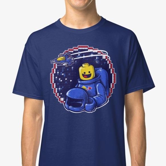 Portrait of a Space-Man Lego T-Shirts