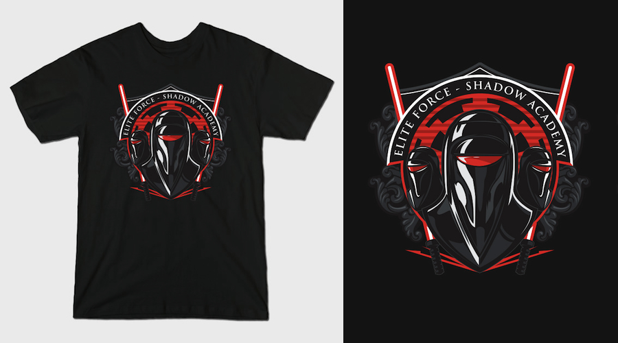 SHADOW ACADEMY - Black Star Wars T-Shirts