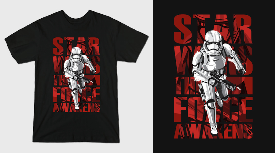 STORMTROOPER NEW ARMOR - Black Star Wars T-Shirts
