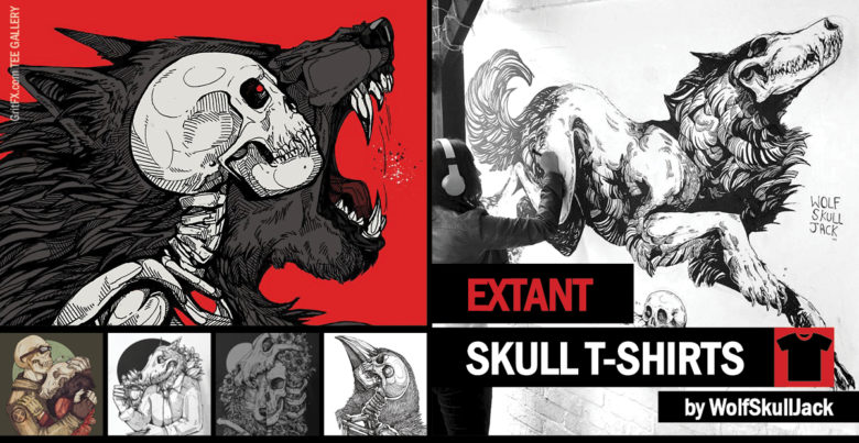 Skull T-Shirts Collection Banner