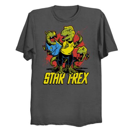 Star T-Rex Dinosaur T-Shirts
