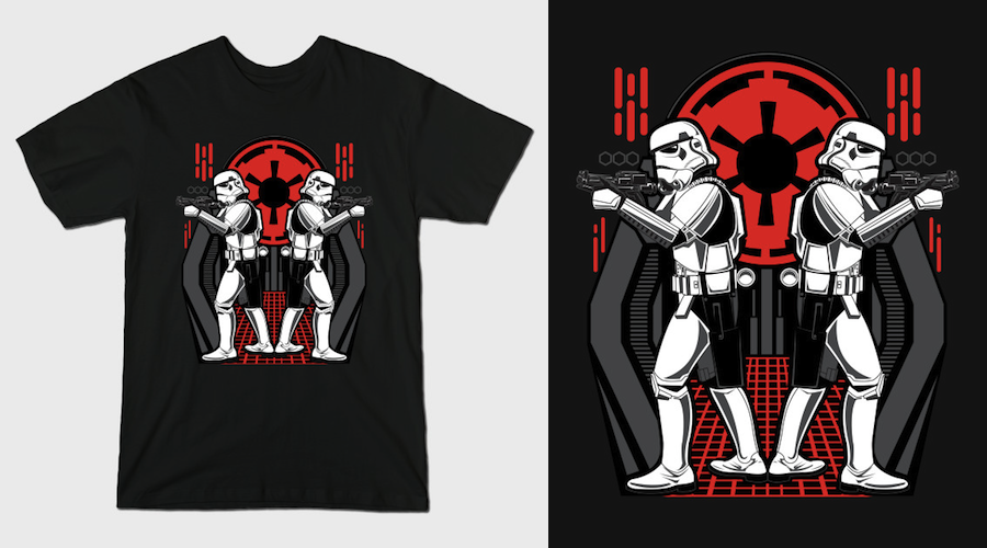 TWINS OF DESTRUCTION - Stormtroopers T-Shirt