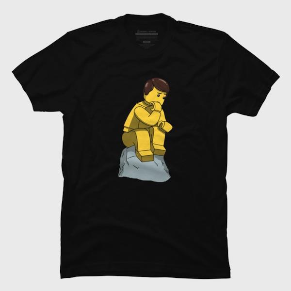 The Lego Thinker T-Shirts