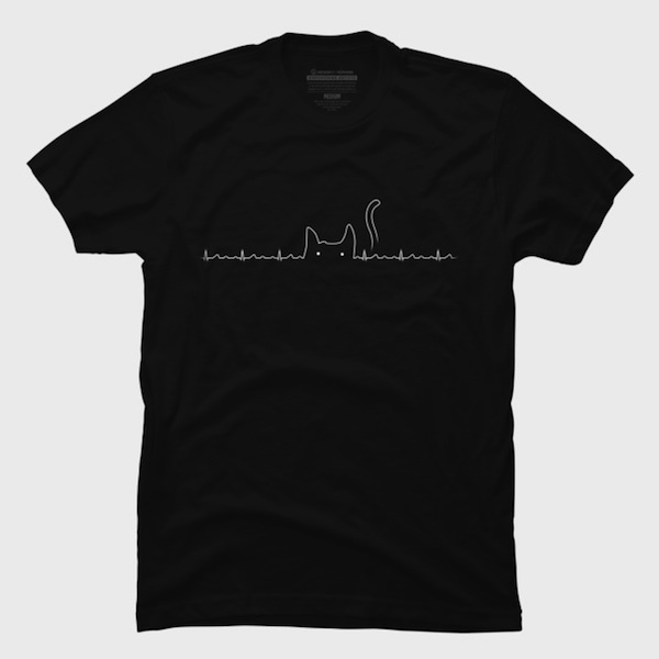 There is a cat in my heart Tees