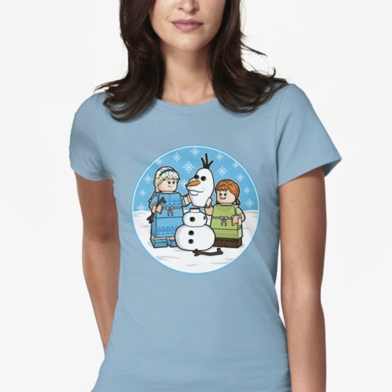 Want to Build a Snowman Lego Tee