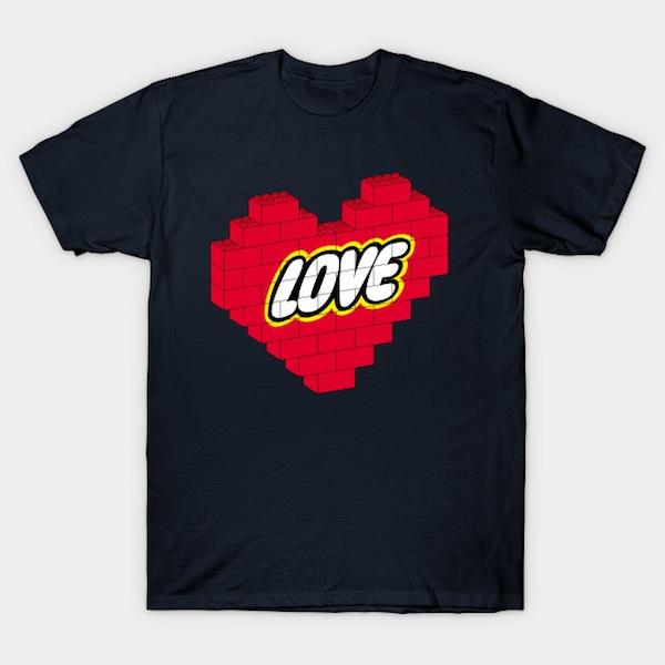 Love Brick - Lego T-Shirts by joanvaro