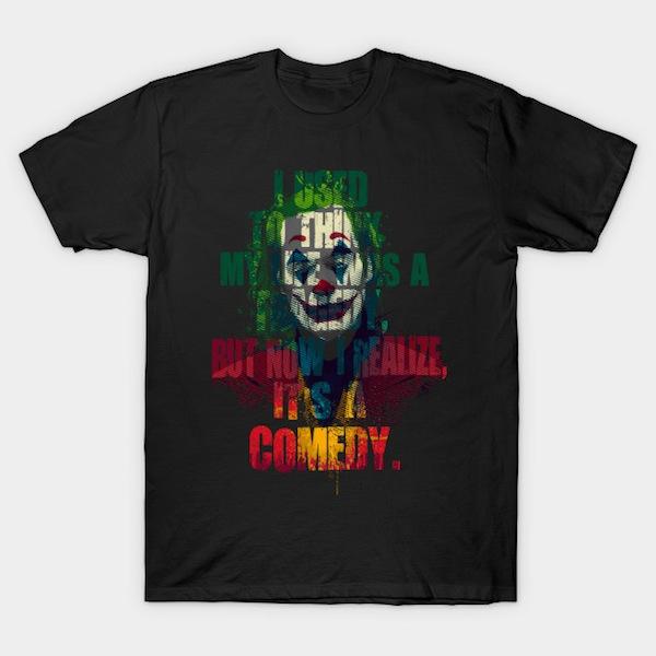 Tragedy Comedy - Joker T-Shirts by Andriu