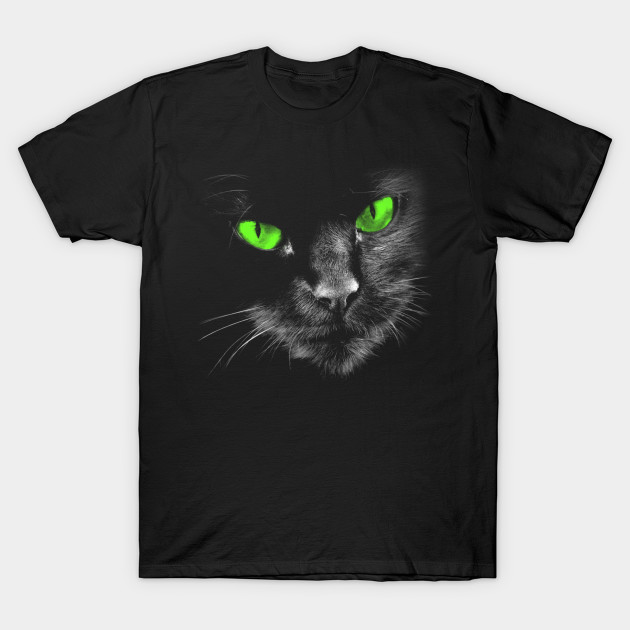 Black Cats Rule - Green Eyes T-Shirts: 2019