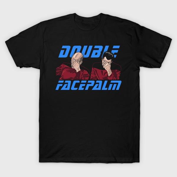 Double Facepalm - Star Trek T-Shirt