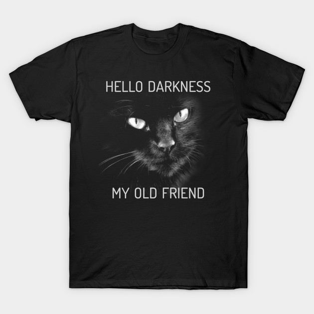Hello Darkness Cat - Typographic Lyrics Version 2