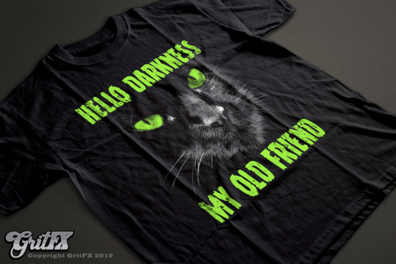Hello Darkness My Old Friend Black Cat T-Shirts