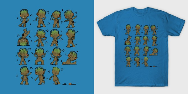 Awesome Dance vol2 - baby Groot Tee