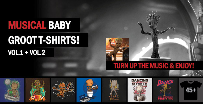 Baby Groot T-Shirts - Best Indie Apparel Artwork