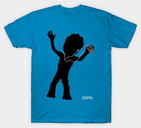 Baby Groot Zune iPod T-Shirts
