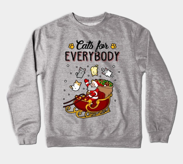 Cats For Everybody Xmas Sweater – by KsuAnn
