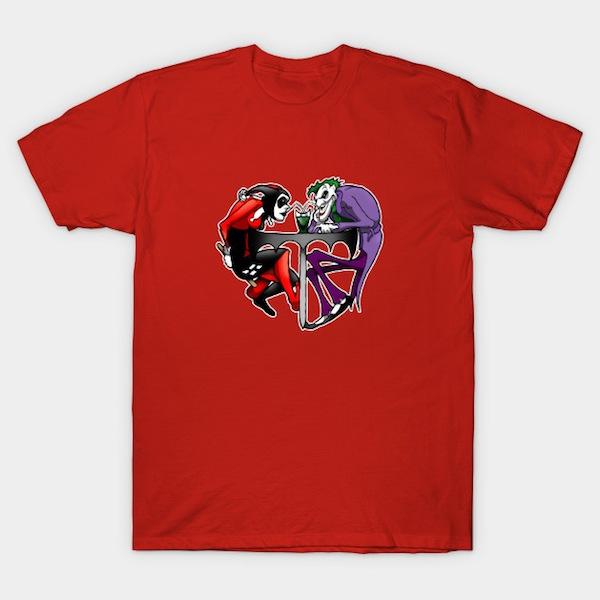 Joker & Harlequin heart T-Shirts